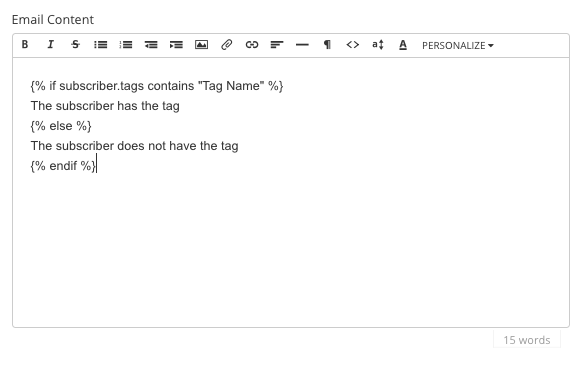 conditional email content based on tags convertkit knowledge base
