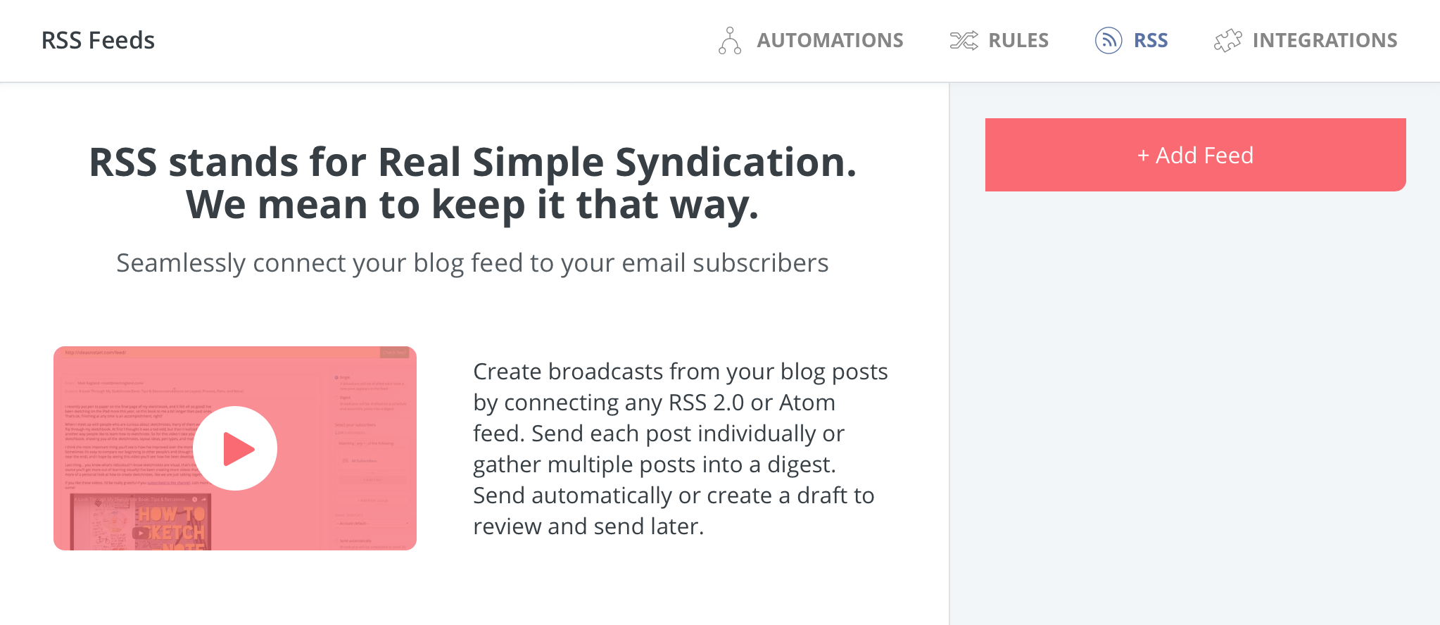 How to set up an RSS feed - ConvertKit Knowledge Base