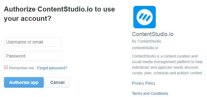 Connect Twitter profile - ContentStudio Help Center
