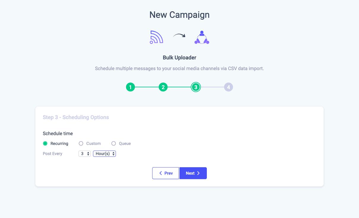 Bulk Upload and Schedule Content via CSV - ContentStudio