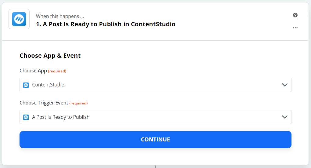 """choose """"A Post Is Ready to Publish"""""""