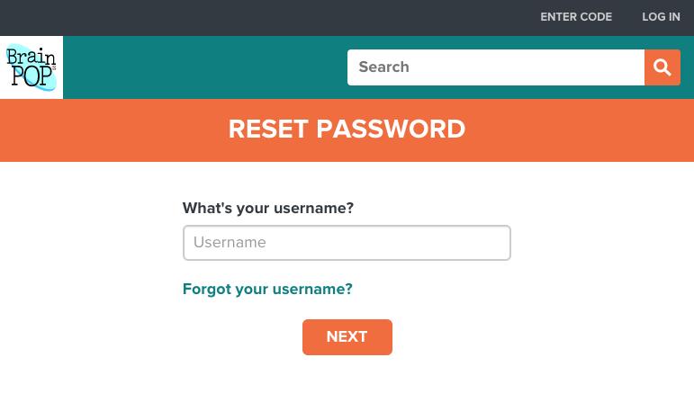 reset your password brainpop help centerreset your password