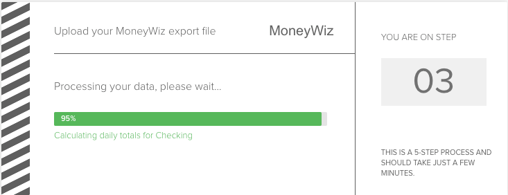 Importing accounts and transactions from MoneyWiz