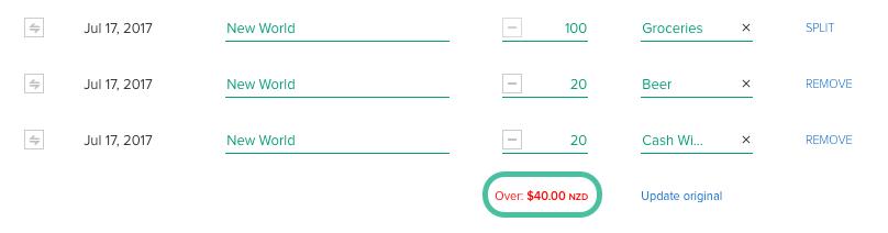 Editing, deleting or splitting a transaction - PocketSmith
