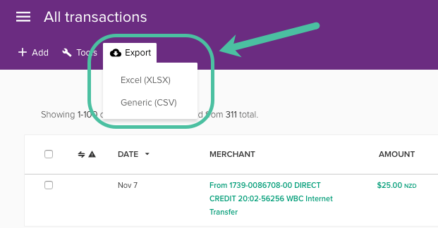 Exporting your transactions - PocketSmith Learn Center