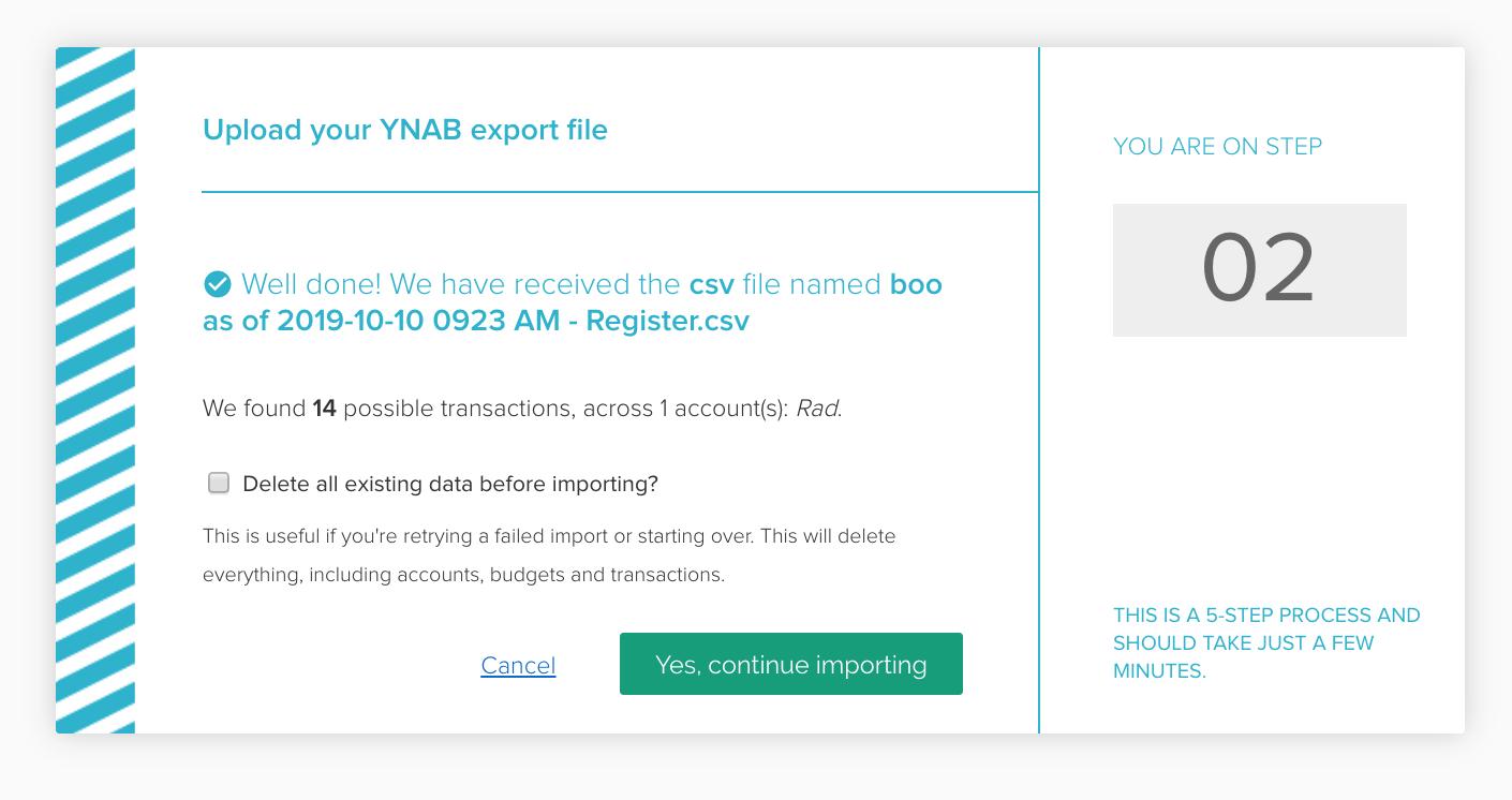 Importing accounts & transactions from YNAB - PocketSmith