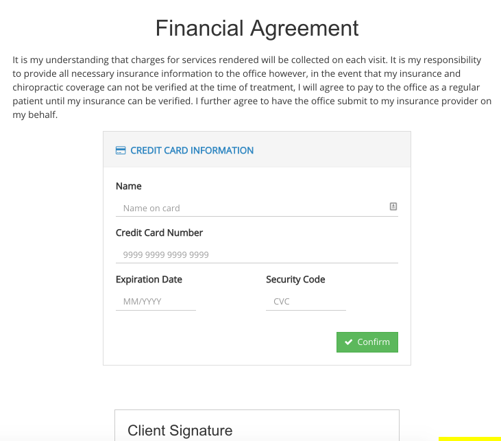 Capturing Credit Cards With Consent Forms Intakeq