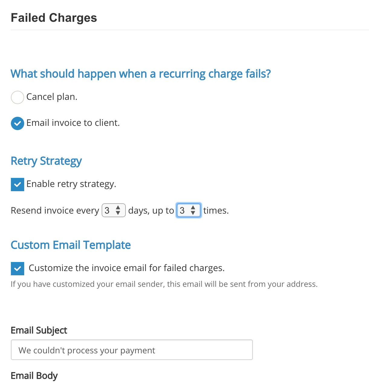 Setting Up Recurring Payments - IntakeQ Knowledge Base