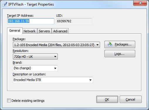 Using IPTVFlash to update IPTV Receivers - Encoded Media