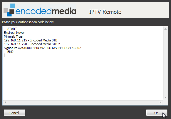 Using the IPTV Manager Desktop Remote - Encoded Media Knowledge Base