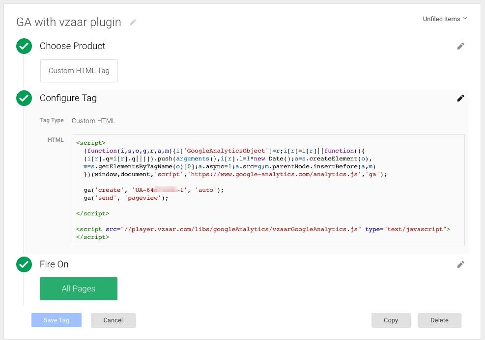 Google Analytics plug-in - vzaar Knowledge Base