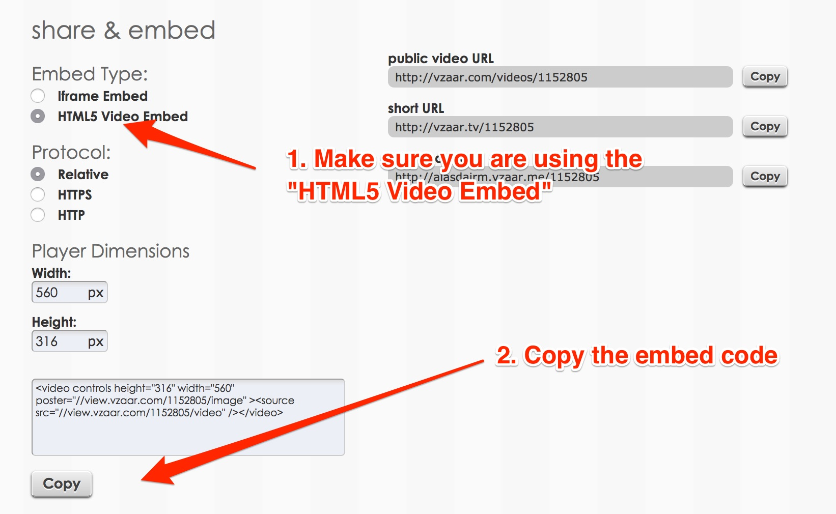 Adding video to eBay listings manually - vzaar Knowledge Base