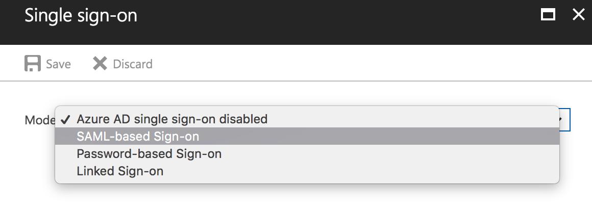 Organization plan - configuring Azure AD Single Sign On