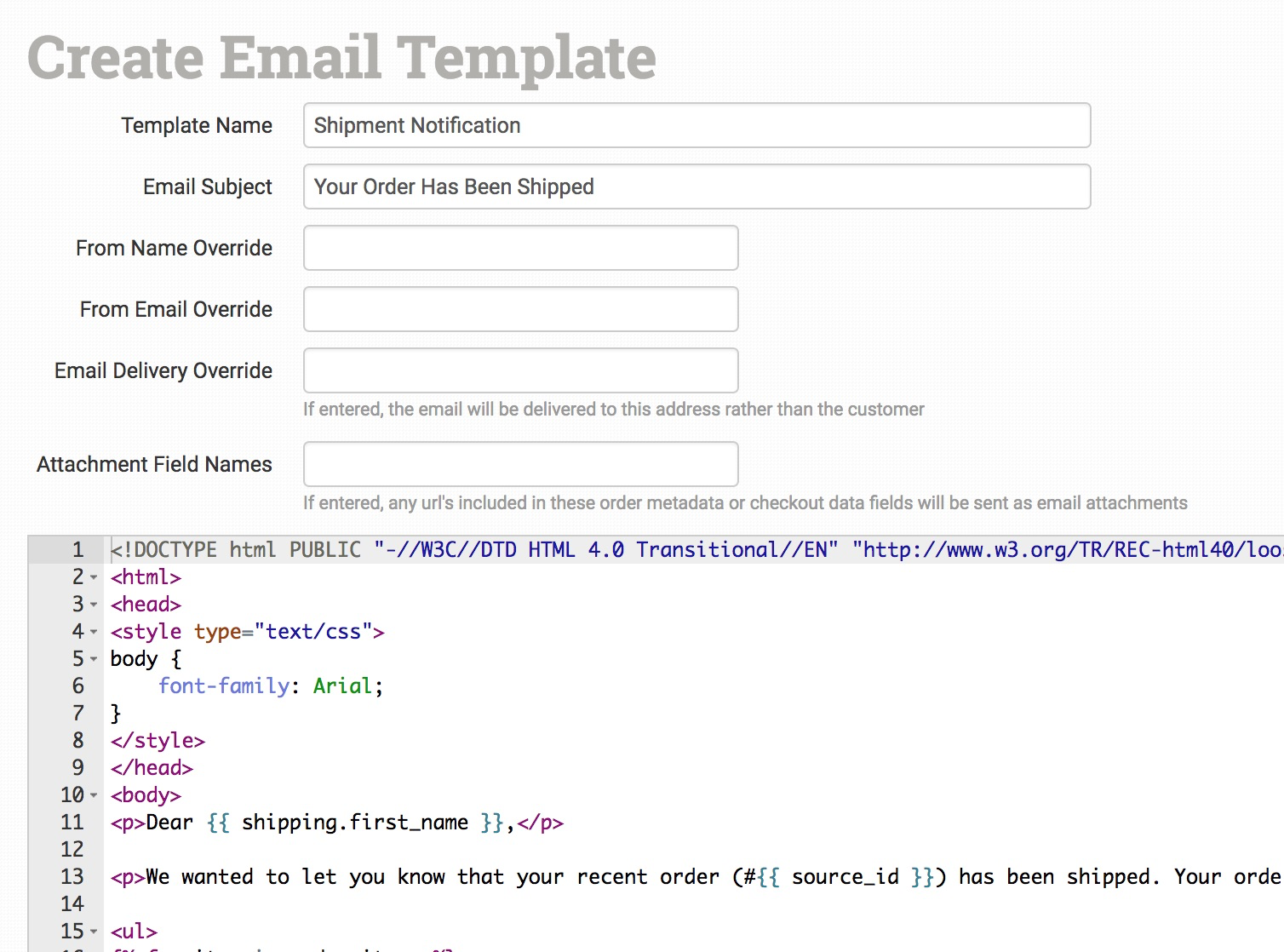How To Work With Email Templates Order Desk Help Site - Set up email template