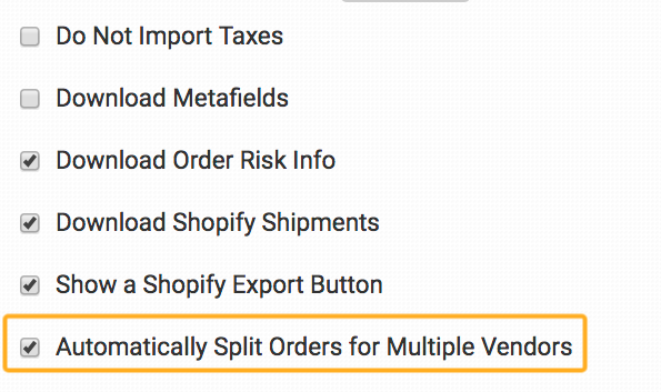 How to Split by Vendor with Shopify - Order Desk Help Site