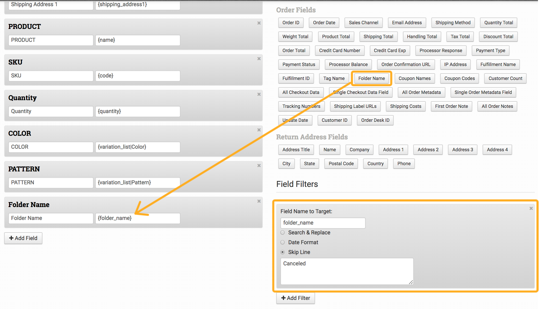 How to Build Export Templates: Filters & Custom Fields - Order Desk ...