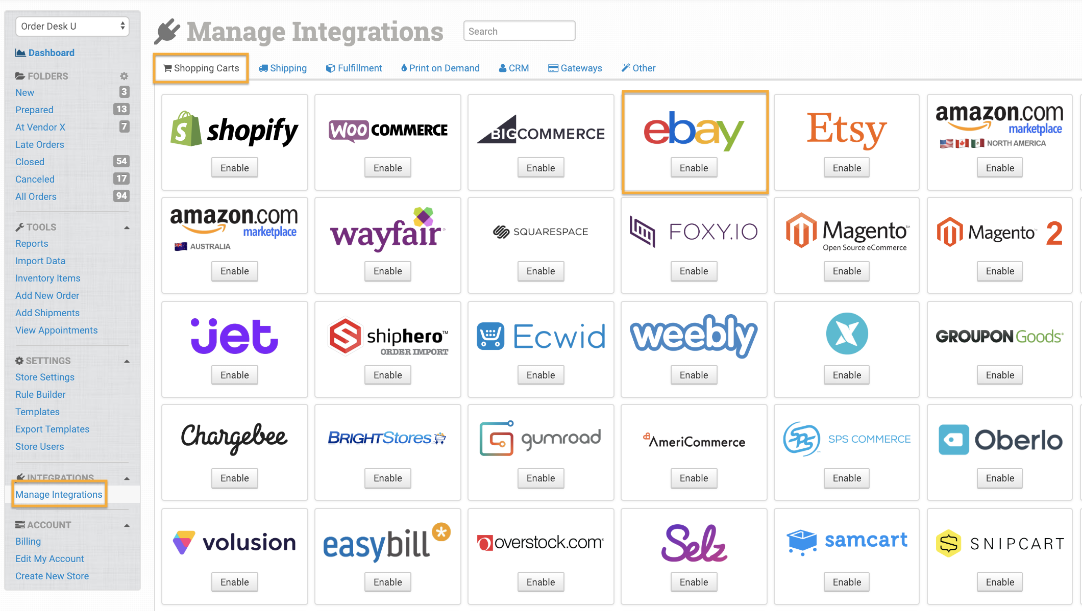 Ebay Integration Order Desk Help Site