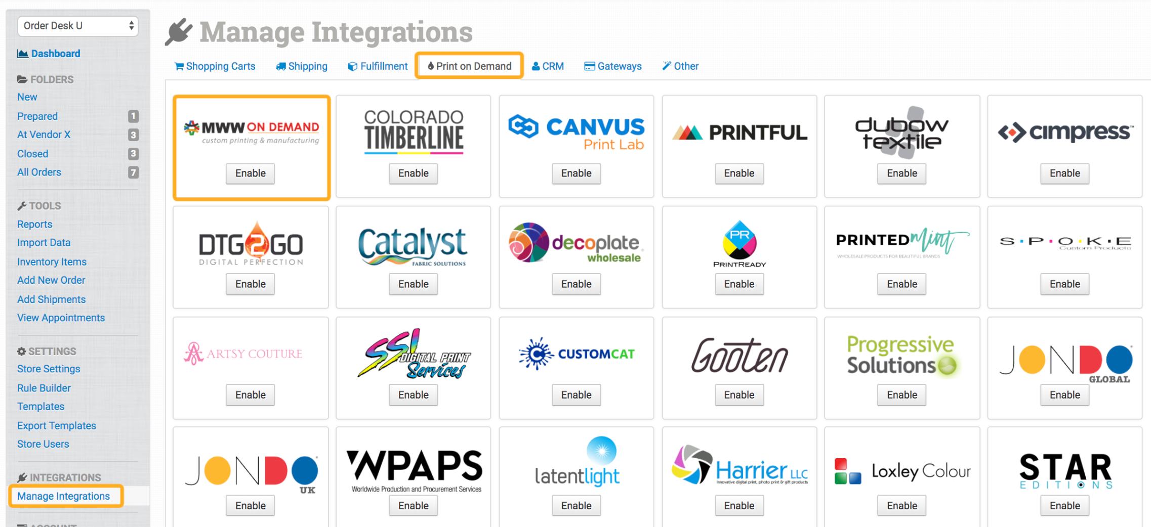 MWW On Demand Integration - Order Desk Help Site