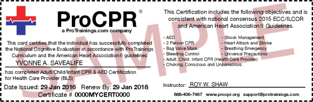 What do your certifications look like? - ProTrainings Knowledge Base