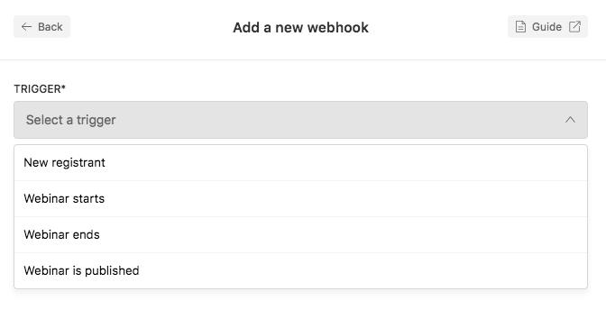 Webhooks Integration - Documentation   Livestorm