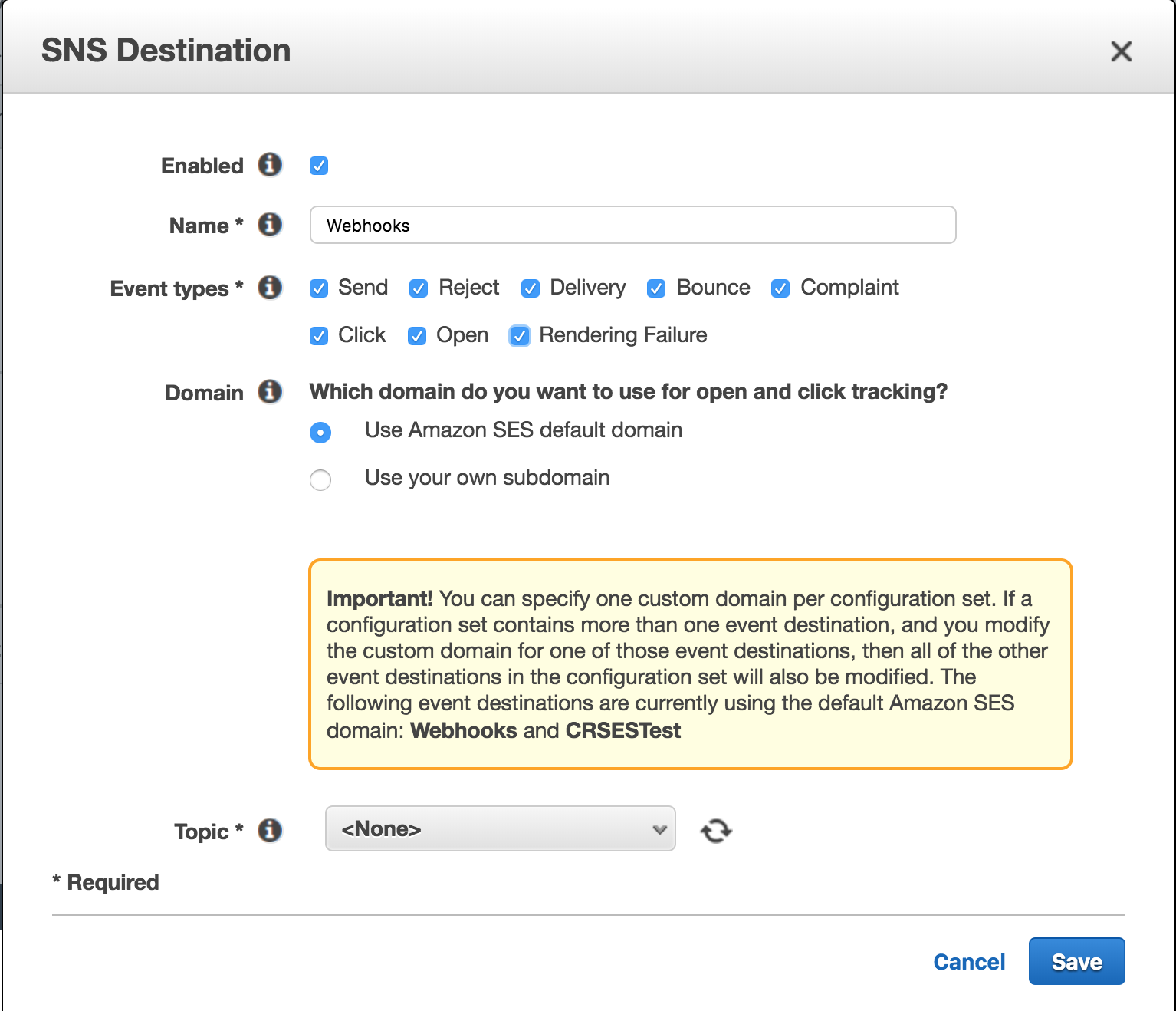 Integrating Amazon SES - Campaign Refinery Knowledge Base