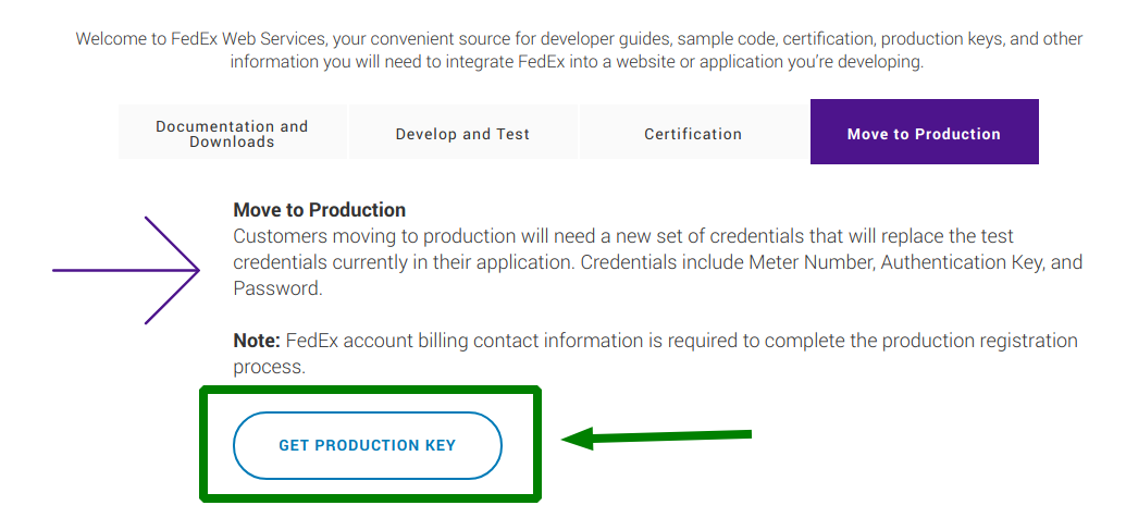 FedEx Connect - How to Get API Key - Flexible Shipping Docs