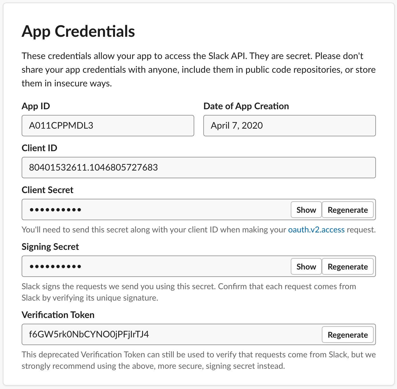 slack-app-credentials