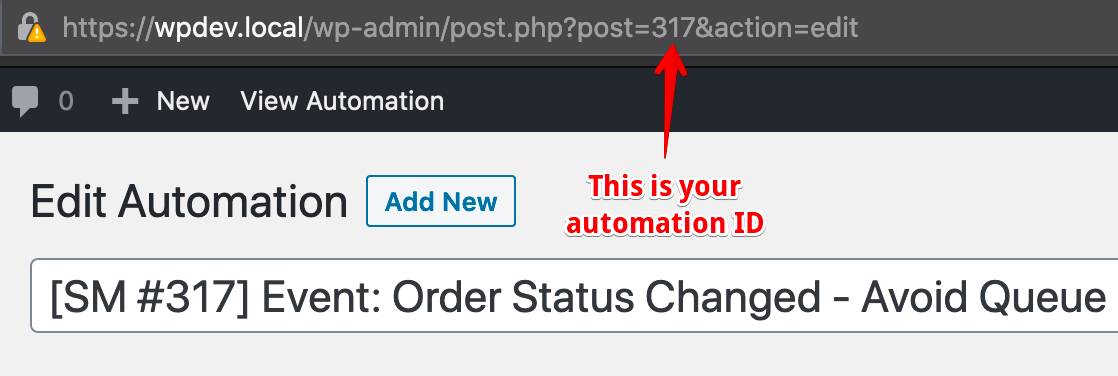 How to find automation ID