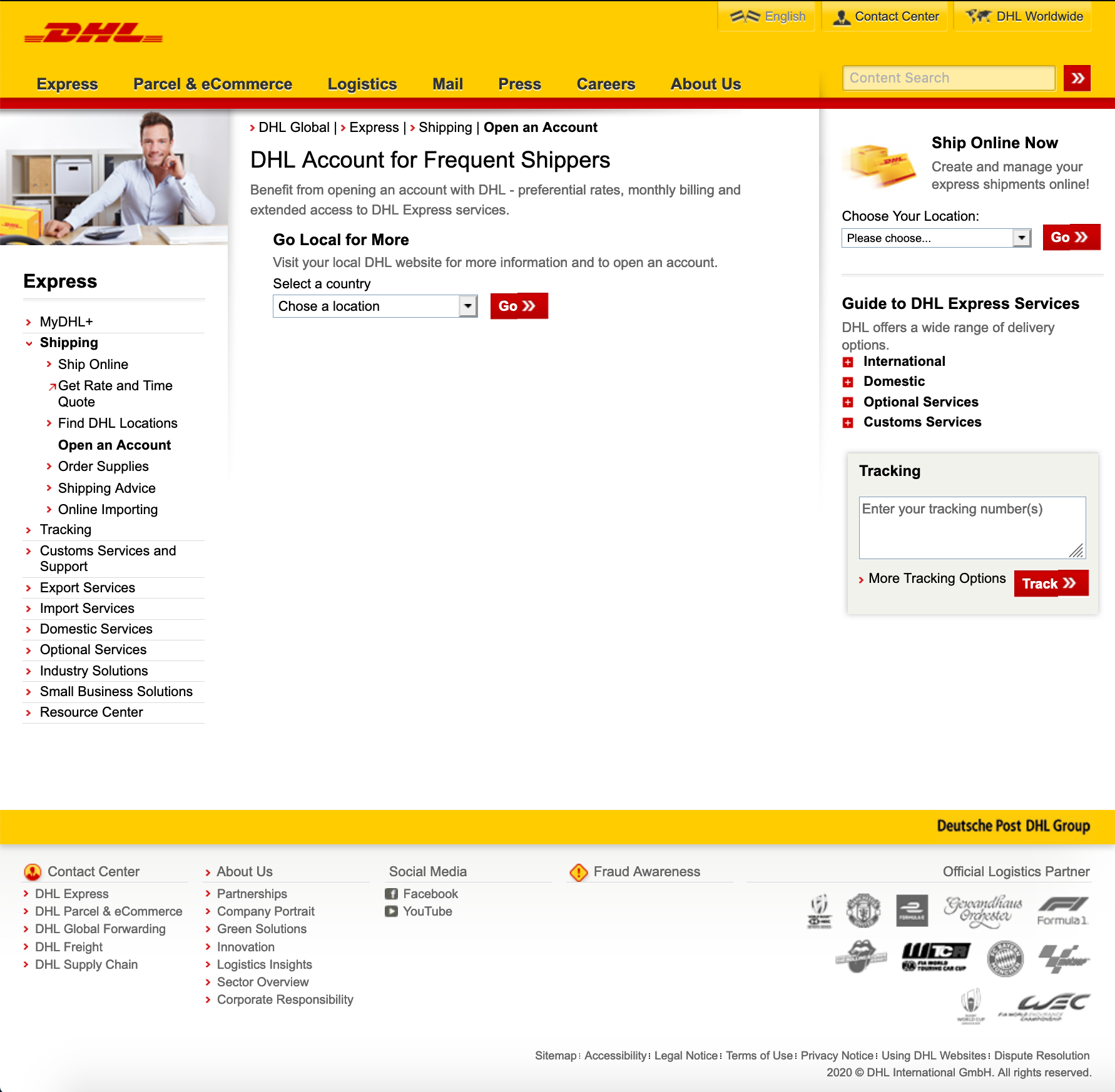 DHL Express - How to create an account? - DHL Express site