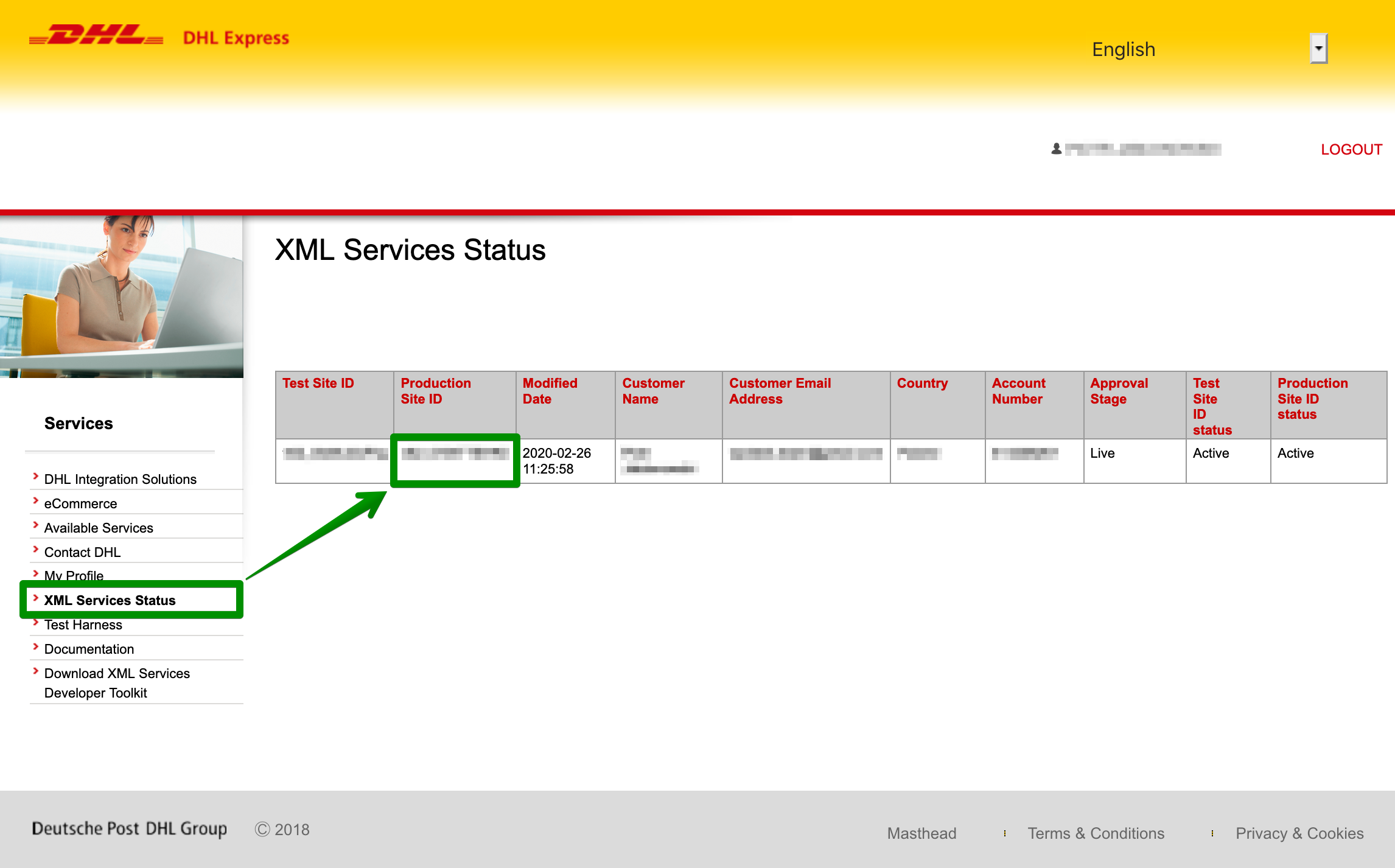 DHL Express - How to create an account? - DHL XML Services Status
