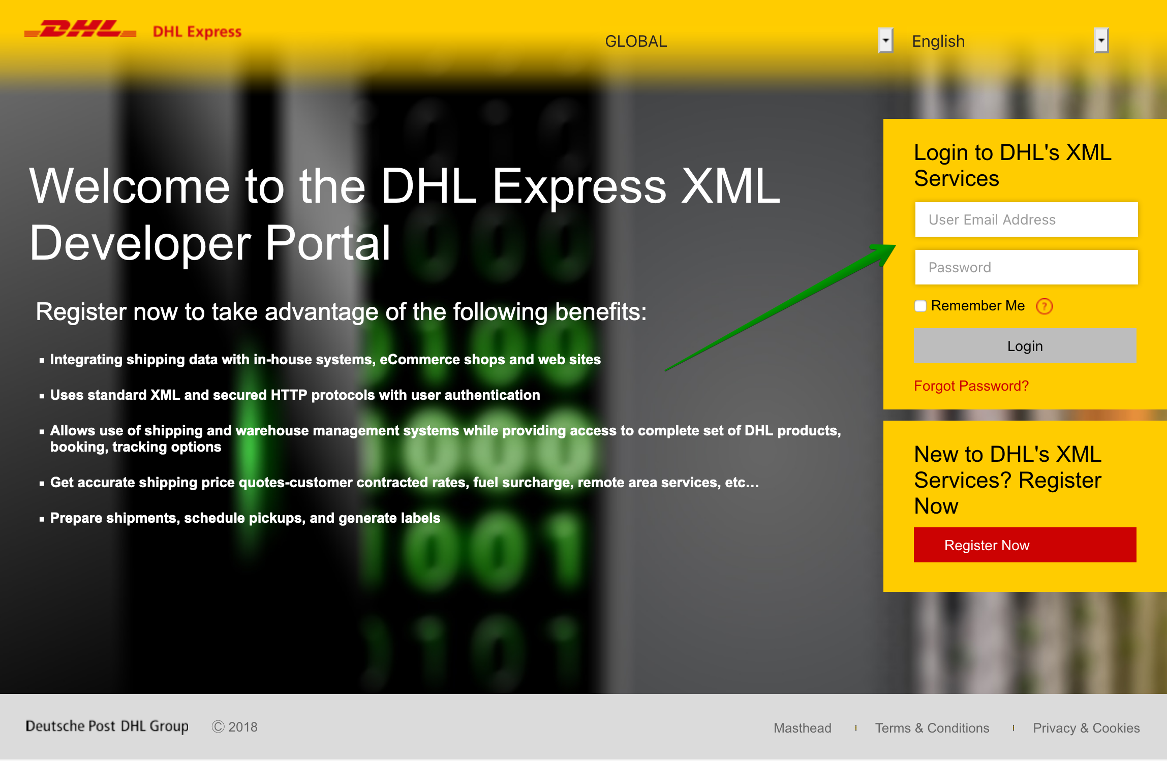 DHL Express - How to create an account? - DHL XML Services login