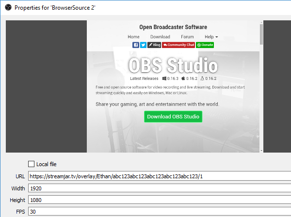 How do I set up the overlay with OBS Studio or Tachyon? - StreamJar