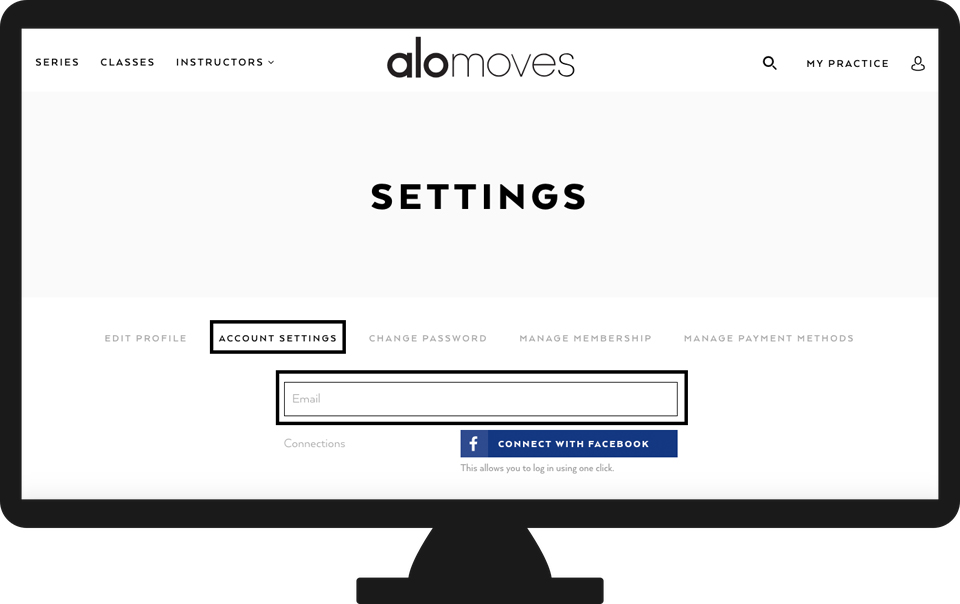 What email am I logged in with? - Alo Moves Support