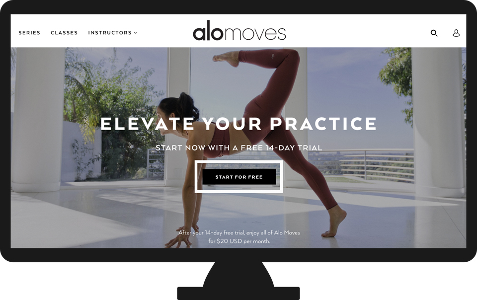 Once you sign up for an Alo Moves Membership, you will have full access to  all membership benefits online and when you log into our mobile apps!