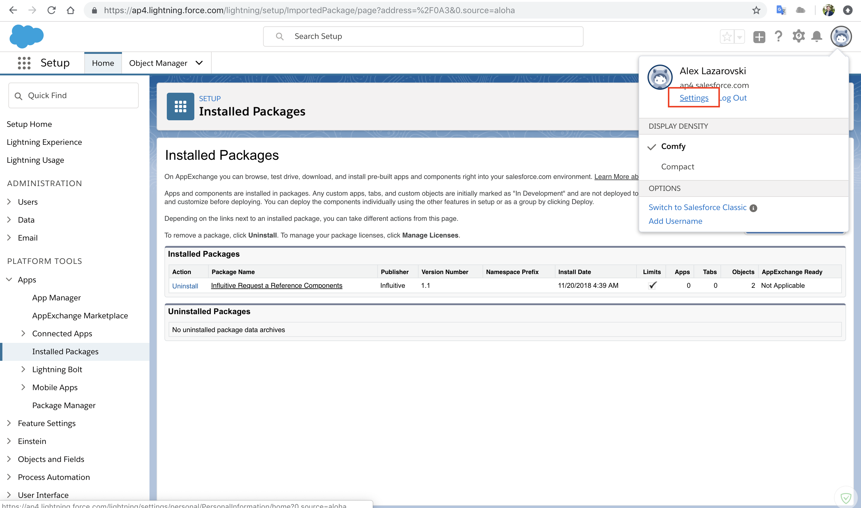 Salesforce Lightning: Installing AppExchange Package 2 0
