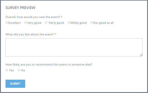 how to setup a post event survey eventzilla support