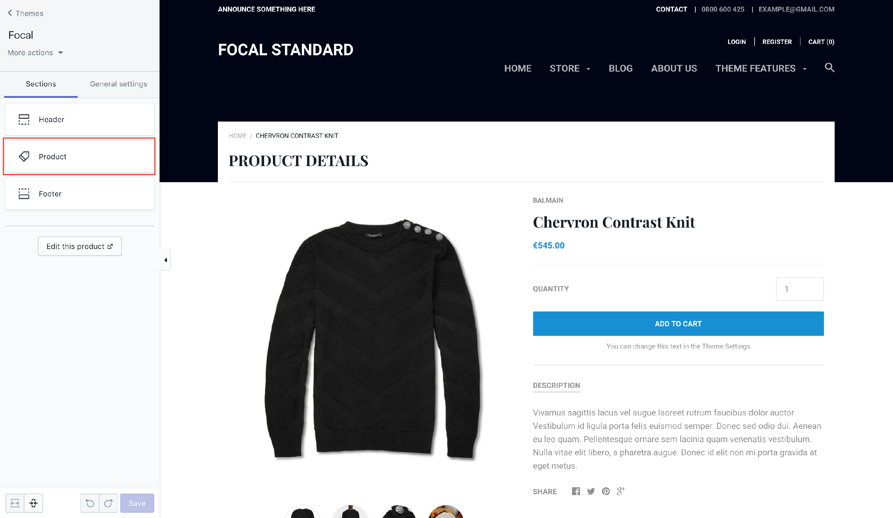 PRODUCT - Adding global tabs to product pages - Shopify
