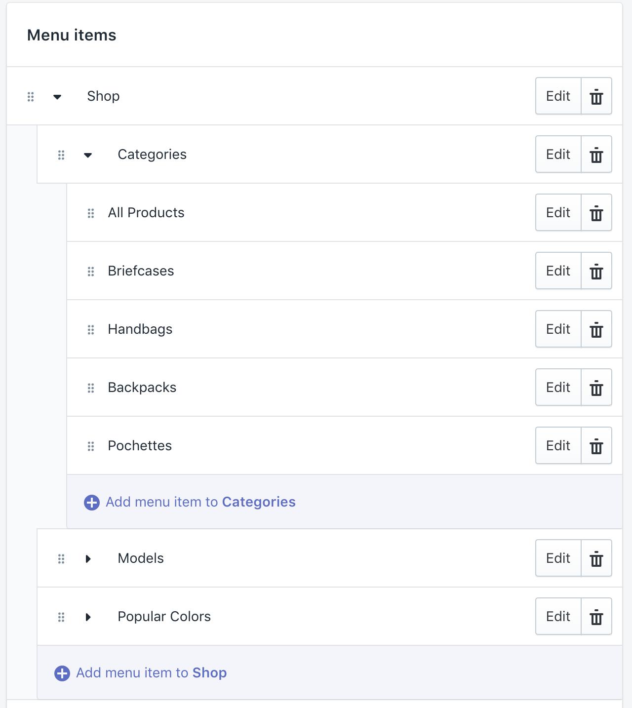 NAVIGATION - Configuring mega-menu - Shopify Themes