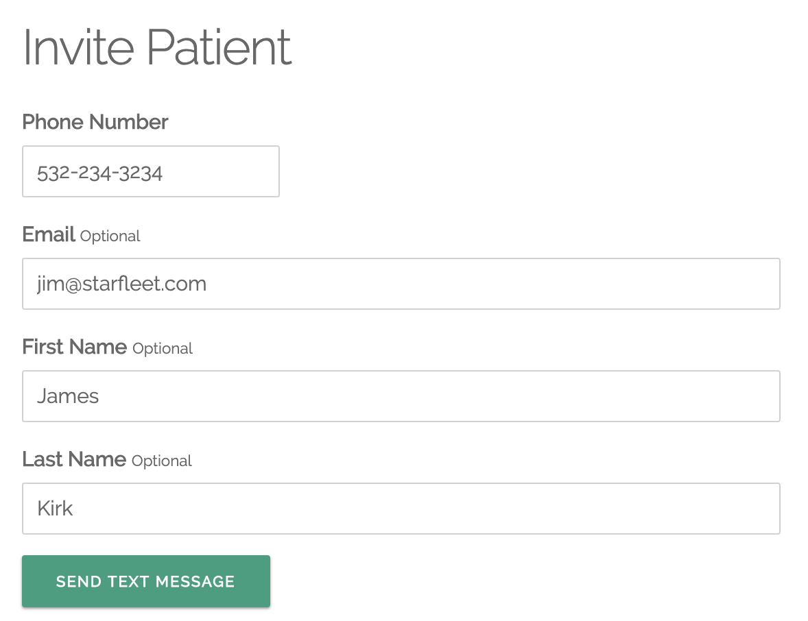 Patient Invite Form