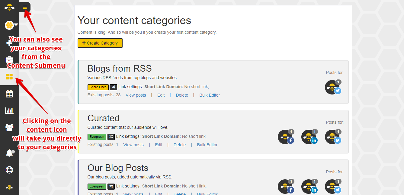 How do I Create a Content Category? - SocialBee Help Documentation