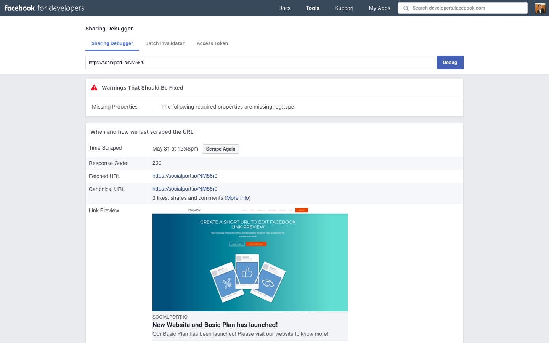 How can I check Facebook link preview? - SocialPort