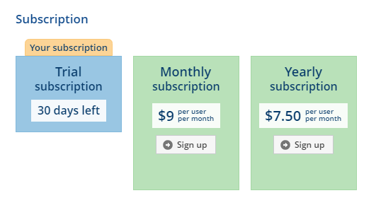 How to sign up for a paid subscription