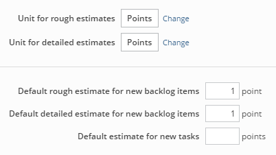 Using default estimates