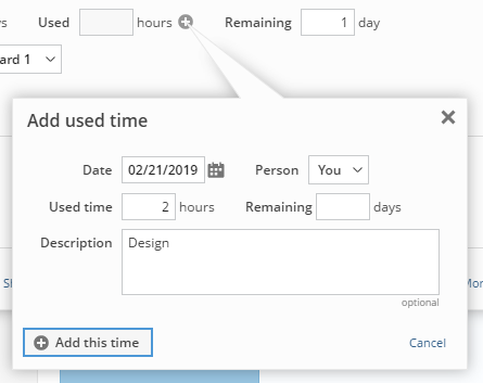 Adding used time when using detailed time tracking