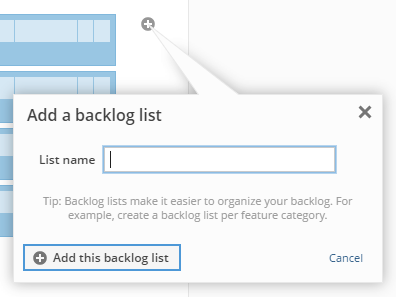 Adding a backlog list