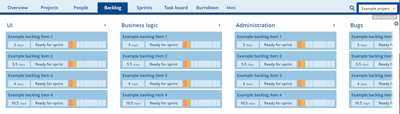 Using backlog lists to organize your backlog