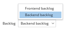Selecting which backlog to show