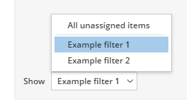 Using saved filters in the Kanban tab