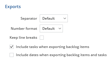 How to include tasks when exporting backlog items