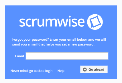 The forgotten password page